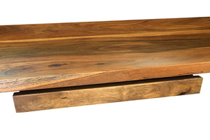 Industrial Desk Retractable Keyboard Tray - Rustic Solid Wood - Steel-Rustic Deco Incorporated