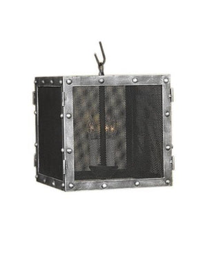 Industrial Hand Forged Cubic Lantern - Pendant Light-Rustic Deco Incorporated