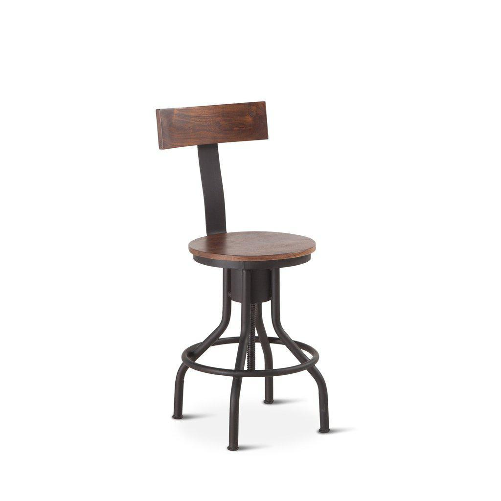 Industrial Modern Adjusting Dining Or Pub Chair - Bar Stool- Set of 2 - Rustic Deco Incorporated