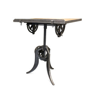 "Industrial Steampunk 35"" Adjustable Office Desk or Hostess Stand-Rustic Deco Incorporated"