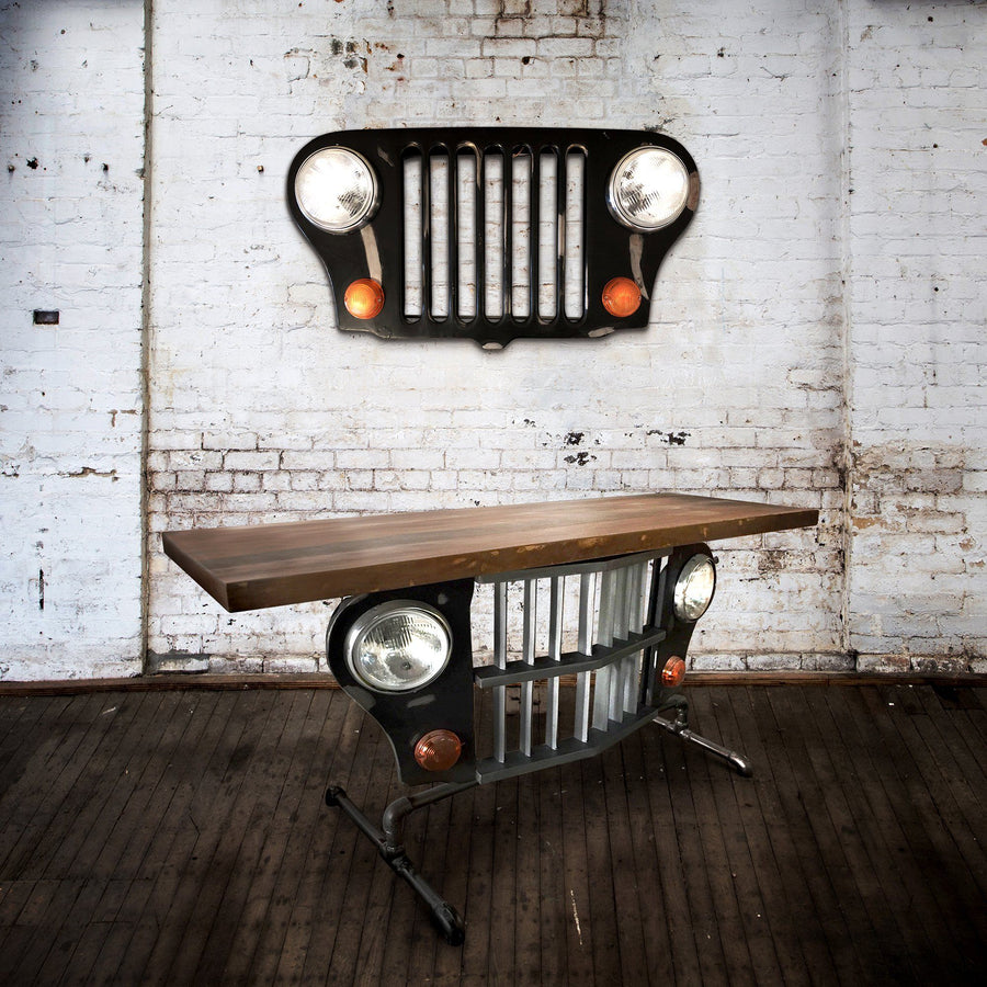 "Jeep Wall Light Wall Art 40"" Lighting Rustic Deco"