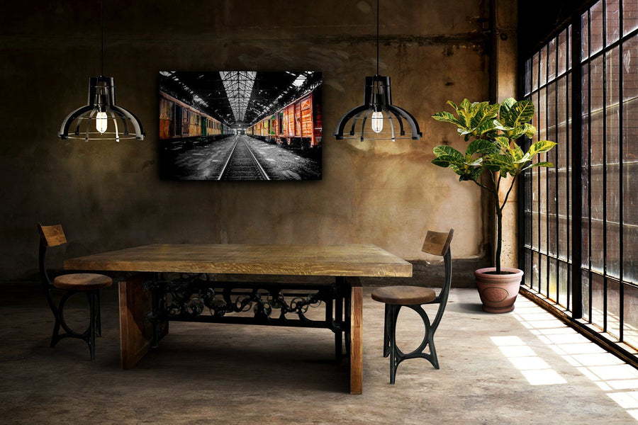 "Large Black Iron Industrial Pendant Light - 20"" Diameter - Rustic Deco Incorporated"