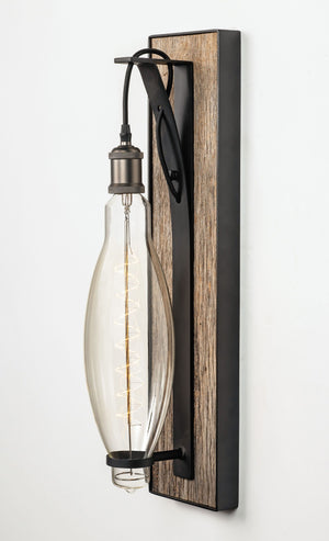 Large Hand Crafted Music Row Wall Sconce Gray Barnwood-Rustic Deco Incorporated