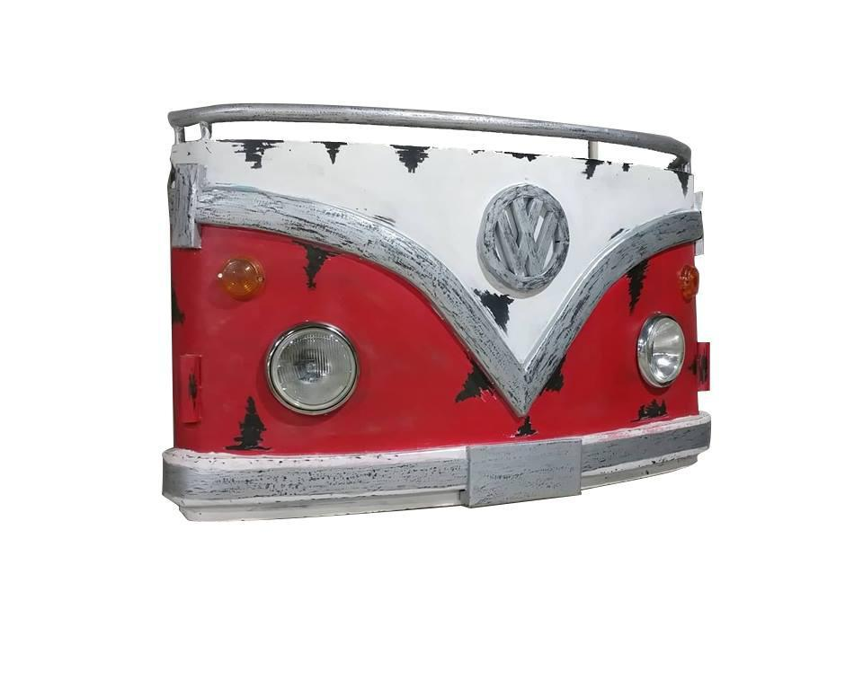 "Retro Volkswagon Van Rustic 3D Metal Wall Light - 62"" x 36""-Rustic Deco Incorporated"