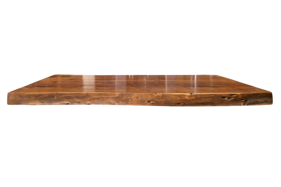 "Solid Wood Live Edge Coffee Table Top - Desk - Pub Dining - Tabletop 48""-Rustic Deco Incorporated"