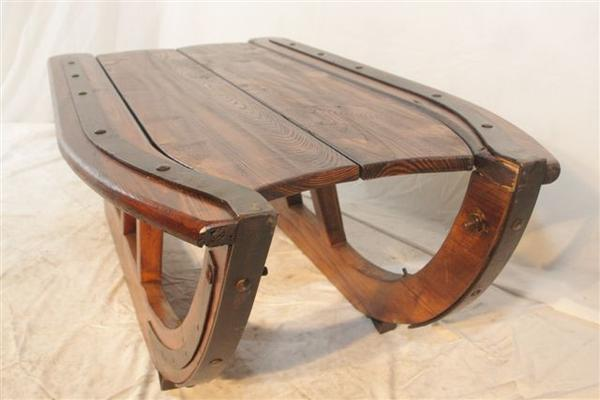 Handcrafted Logging Sled Coffee Table - Rustic Solid Wood - Iron Trim-Rustic Deco Incorporated