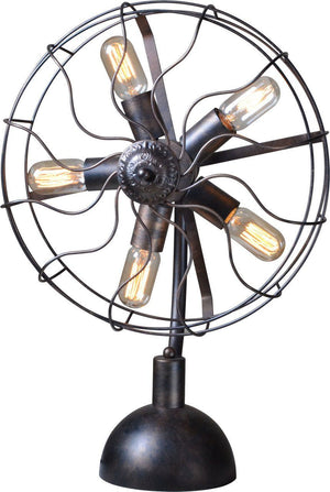 Luminaire Industrial Fan Table Light - Rustic Deco Incorporated