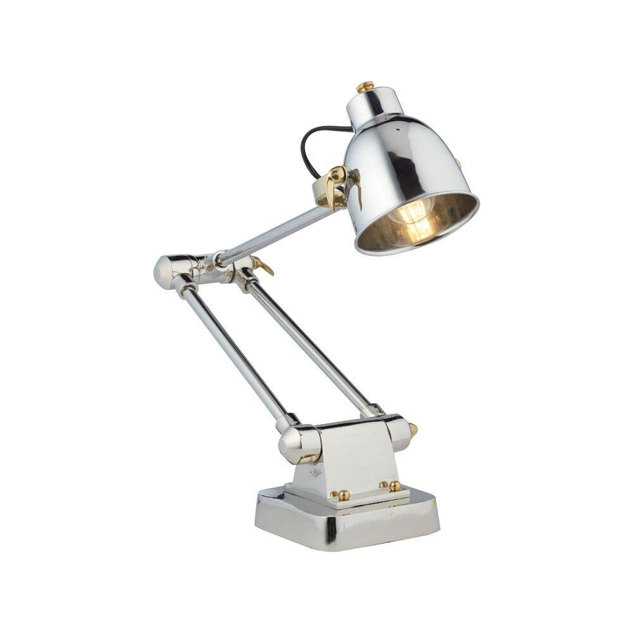 Memphis Table Lamp Aluminum - Polished Aluminum - Brass - Desk Lamp - Rustic Deco Incorporated