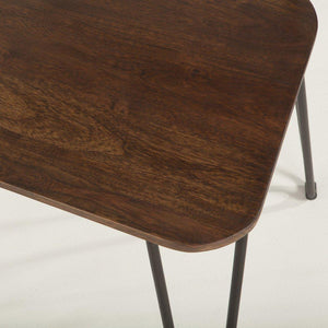 "Mid Century Modern Dining Chair 18"" Walnut Stain Hair Pin Legs-Set of 2 Chair HT&D"