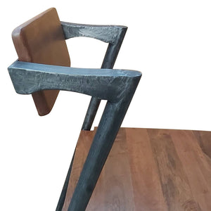Danish Mid-Century Modern Dining Chair #42 - Unique Iron Frame - Rustic Deco Incorporated