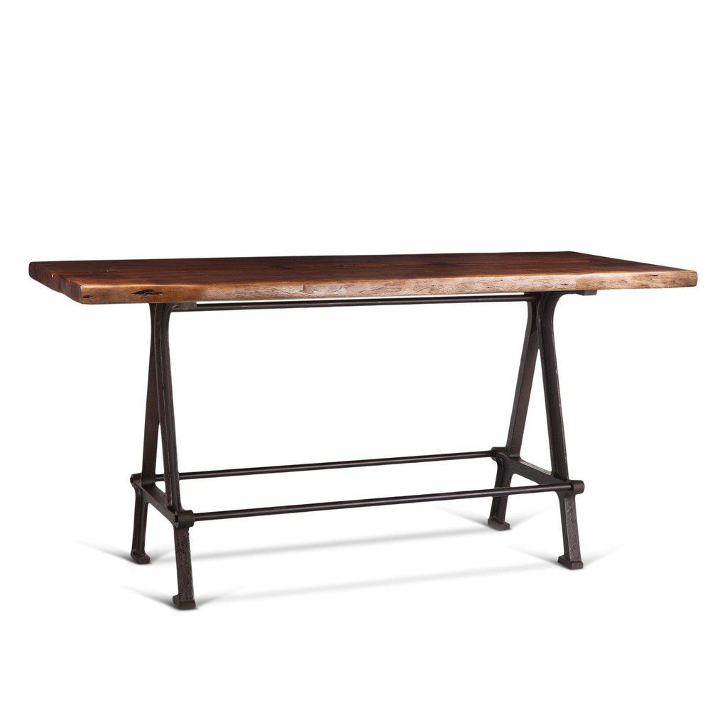 "Modern Industrial Gathering Bar Table 72"" - Pub Table - Rustic Deco Incorporated"