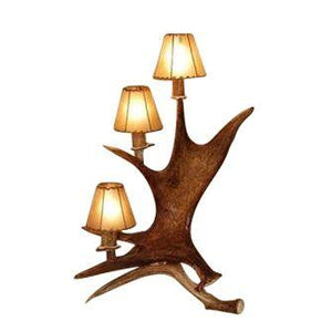 Real Deer Moose Antler Standing Table Lamp - 3 Tier Light - Rustic Deco Incorporated