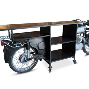 Motorcycle Bar Cart Cart Rustic Deco