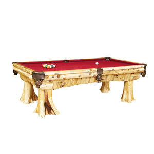 Natural Cedar Log Cedar Pool Table - (includes cloth) - Rustic Deco Incorporated