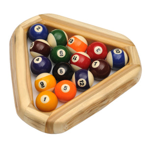 Real Natural Cedar Log Pool Ball Rack Billiards Hand-Peeled Triangle - Rustic Deco Incorporated