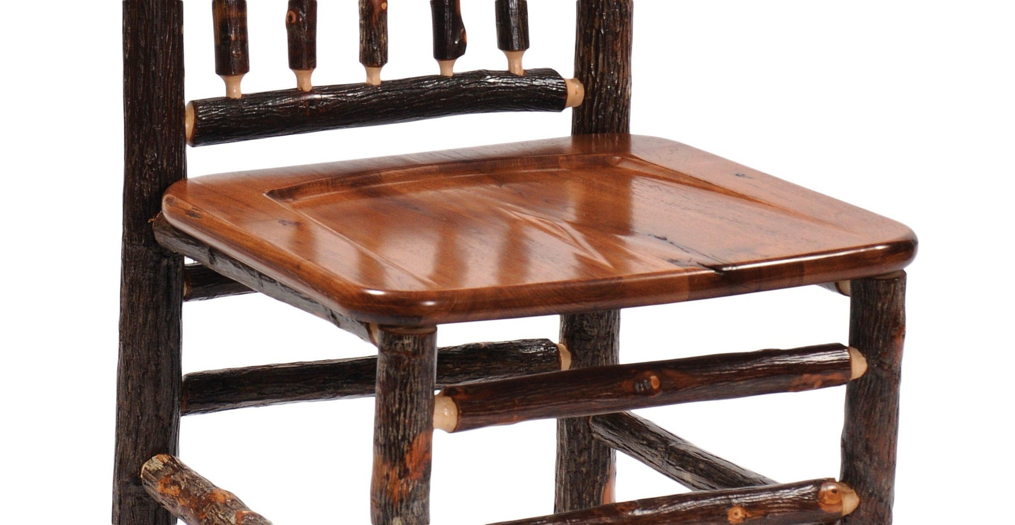 Real Hickory Log Wooden Counter Stool Chair 24 Quot High