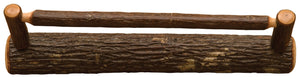 Natural Hickory Log Hickory Towel Bar - 24-36-48 Inch- 3 Size Other Fireside Lodge 24-Inch