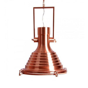 "Nautical Industrial Copper Pendant Light - 17"" Diameter - Rustic Deco Incorporated"