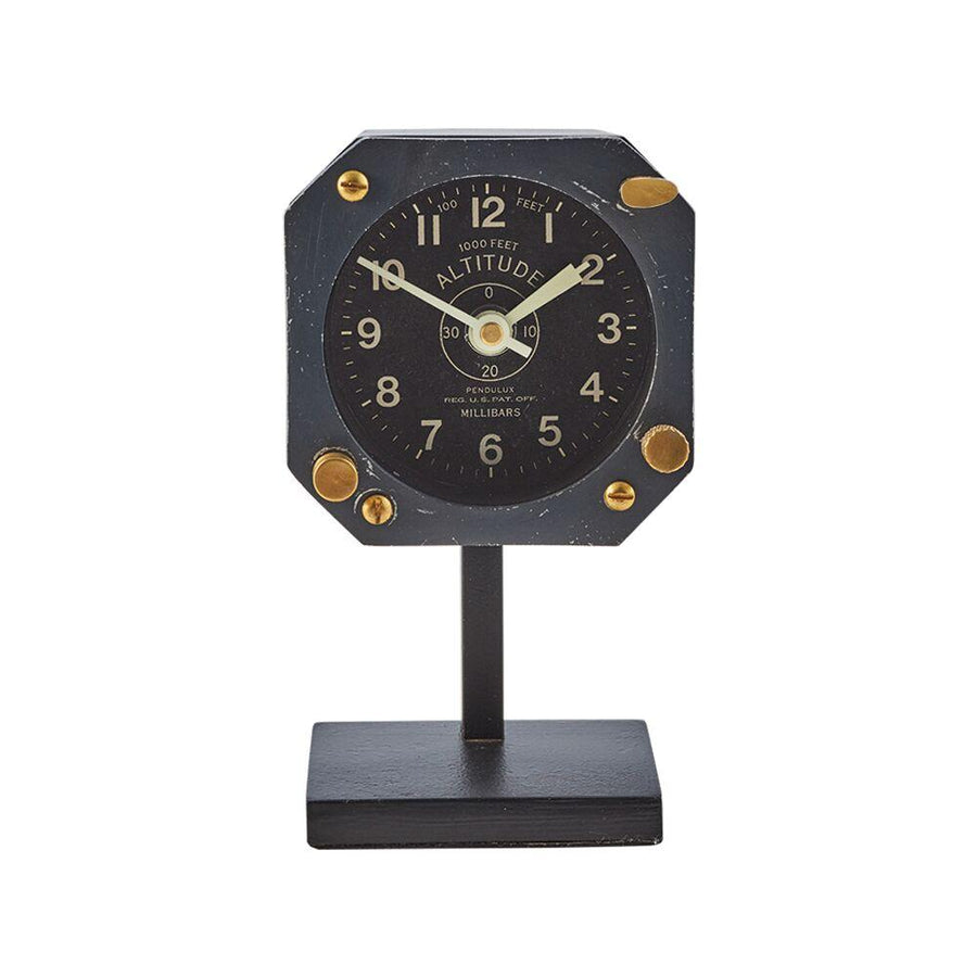 Navigator Table Clock - Aviator - WWII Aircraft - Vintage Industrial - Machine Age Clock Pendulux
