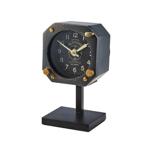 Navigator Table Clock - Aviator - WWII Aircraft - Vintage Aeronautical - Rustic Deco Incorporated