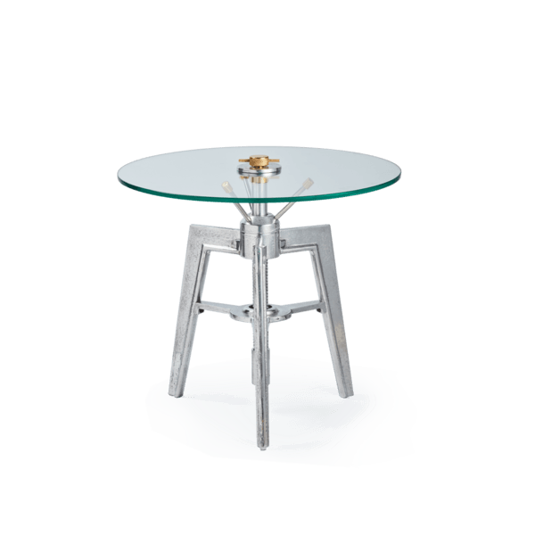 Neptune Table Small - Side Table - Modern Industrial - Steel - Brass - Heavy Tripod Legs Side Table Pendulux