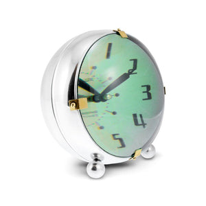 Orbit Table Clock - Chrome Desk Clock - Vintage Industrial - 1950's Atomic Age Clock Pendulux