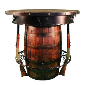 Western Outlaw Pub Table Barrel 3 Handcrafted Rifles - Saloon - Custom USA - Rustic Deco Incorporated