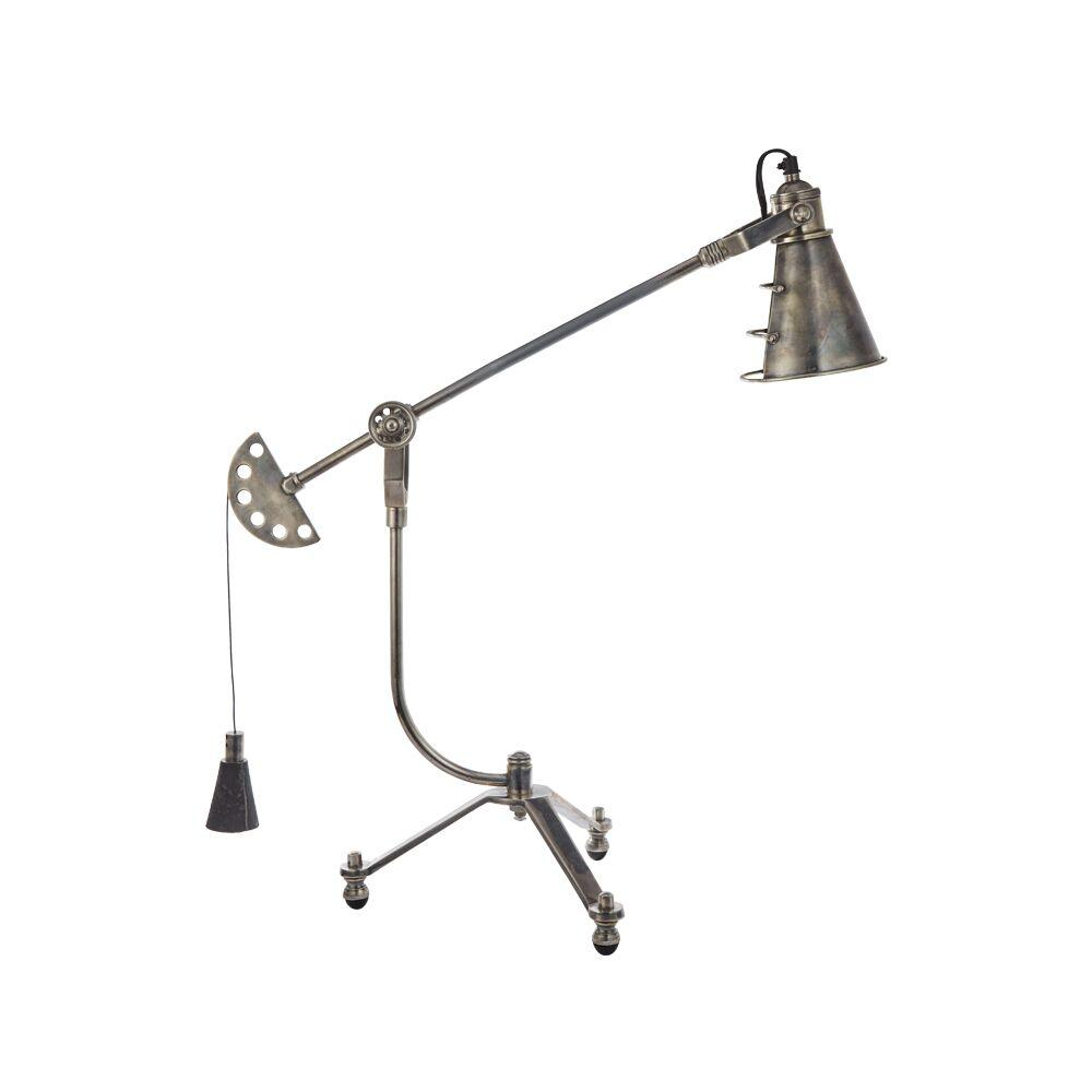"Pablo Table Lamp - Vintage Industrial - 1880's clock weight - 1920's Inspired Lamp Shade - 37"" High Lighting Pendulux"