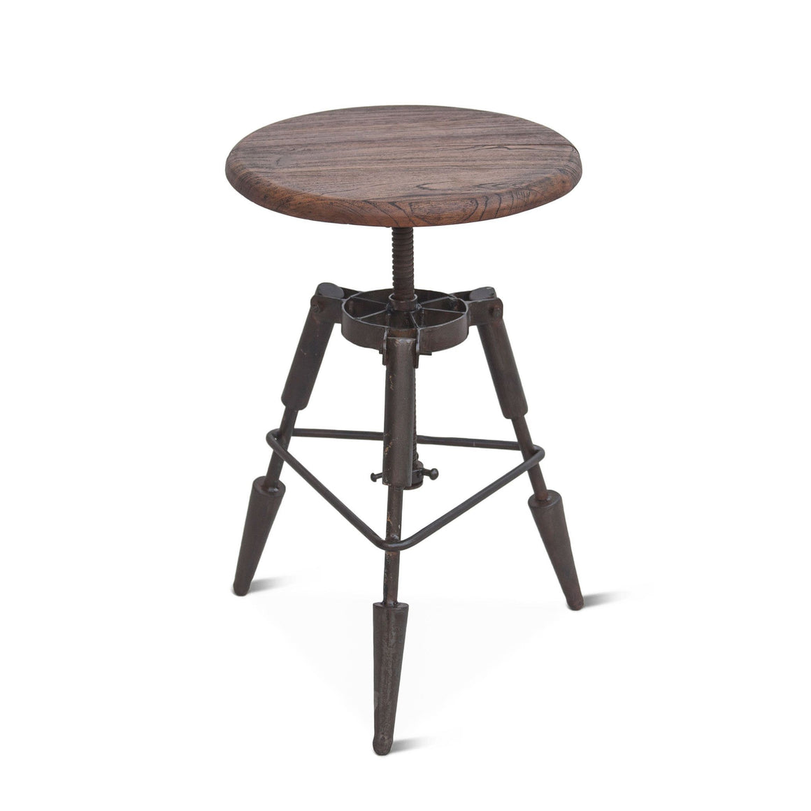 Pair of Steampunk Industrial Adjustable Height Stools Stool - Rustic Deco Incorporated