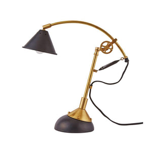 Parisien Drafting Desk Table Lamp - Brass - 19th Century - Vintage Industrial - Rustic Deco Incorporated
