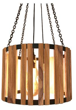 "Plantation Teak Pendant 24"" Diameter The Division Street - Rustic Deco Incorporated"