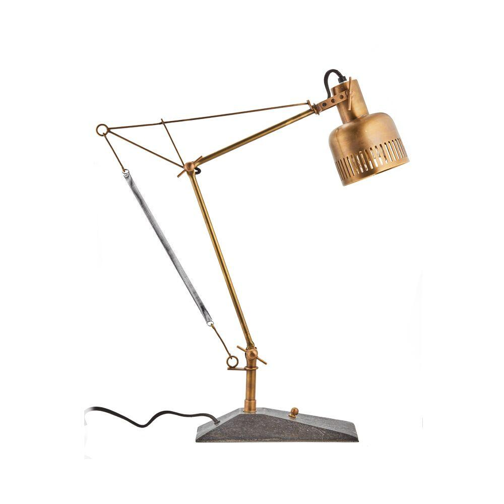 "Prague Table Lamp - Solid Brass Desk Lamp - 28"" High - Rustic Deco Incorporated"