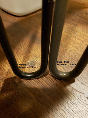 "Premium 2 Rod Stainless Steel Hairpin Legs 1/2"" 16"" and 28"" DIY Rustic Deco"