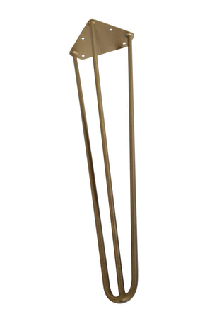 "Premium 3 Rod Hairpin Legs 1/2"" Brass 16"" and 28"" - Set of 4 DIY Rustic Deco 16"""
