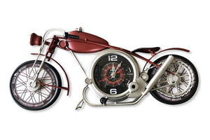 Red Motorcycle Wall Clock - Rustic Deco Incorporated