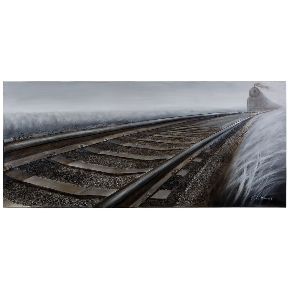 Rip Track Railroad 3D Canvas Wall Art - Painting - Steampunk Wall Art YOSEMITE