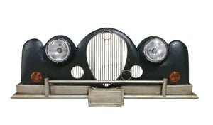 "Classic Car 3D Metal Wall Art - Working Headlights - RR Retro - 65"" x 27"" - Rustic Deco Incorporated"