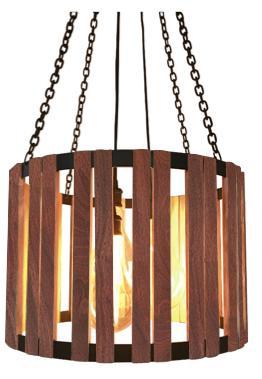 "Rosita Walnut Pendant 24"" Diameter The Division Street Lighting Carroll by Design"