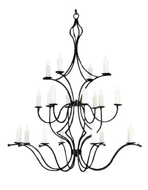 Rustic Elegant Hand Forged Chandelier - 3 Sizes Lighting Ashore Large