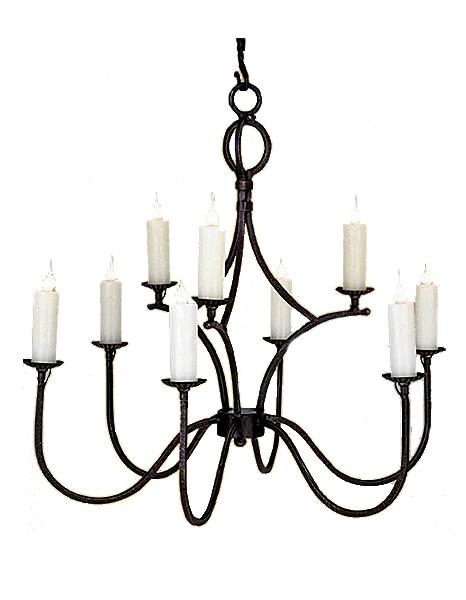 Rustic Elegant Hand Forged Chandelier - 3 Sizes-Rustic Deco Incorporated
