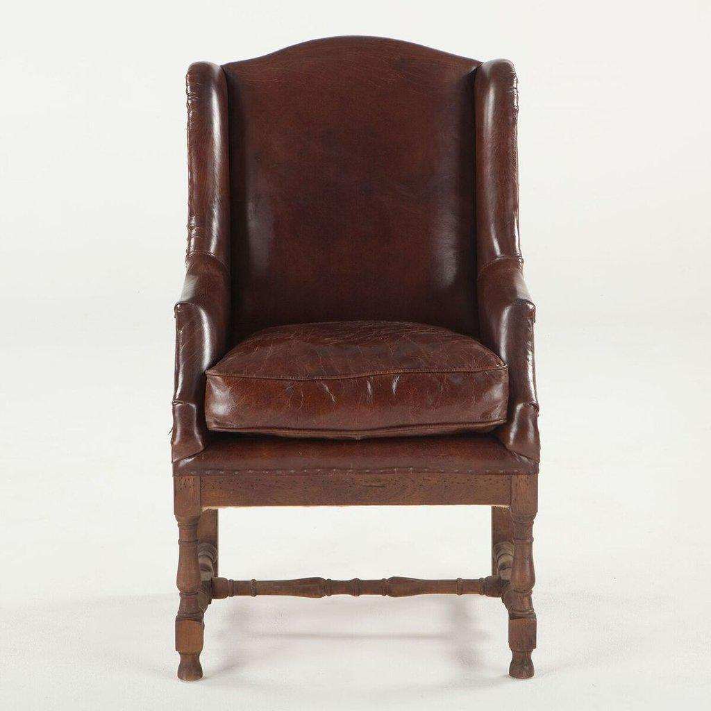 Charmant ... Deconstructed Back Sicily Cigar Arm Chair   Brown Leather   Rustic    Rustic Deco Incorporated ...