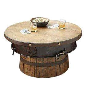 Rustic Half Barrel Coffee Table Western Cabin Coffee Table Antlerworx