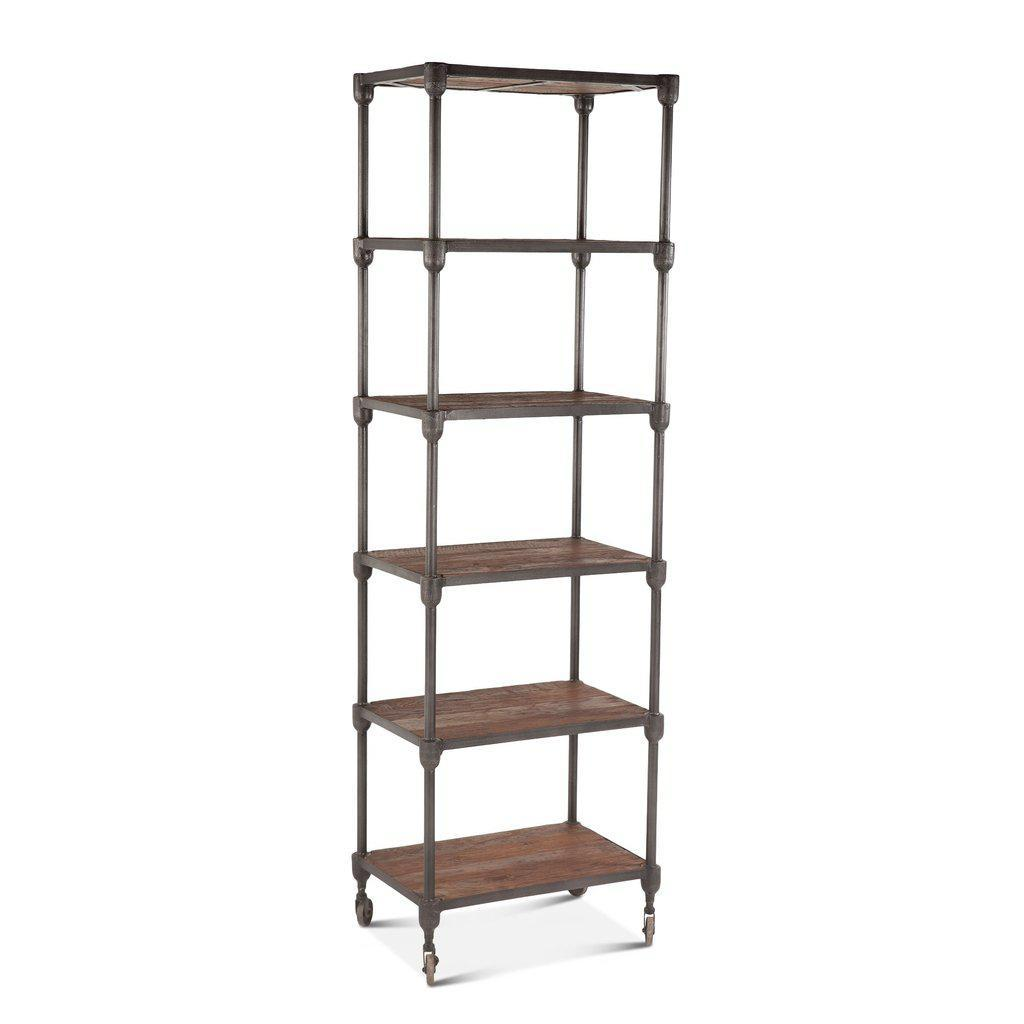 Rustic Industrial Bookshelf 80 Iron Reclaimed Teak Wood Bookcase
