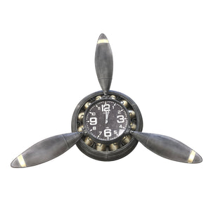 Rustic Industrial Metal Propeller Wall Clock - Rustic Deco Incorporated