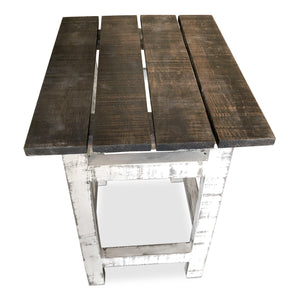 Rustic Kitchen Island Table Set - 2 Stools - Wine Rack - Farmhouse-Rustic Deco Incorporated