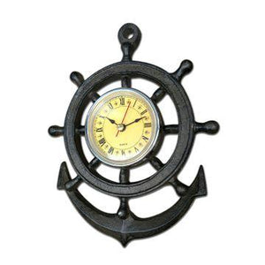 Sail Wheel Design Wall Clock- Cast Iron Wall Clock Rustic Deco