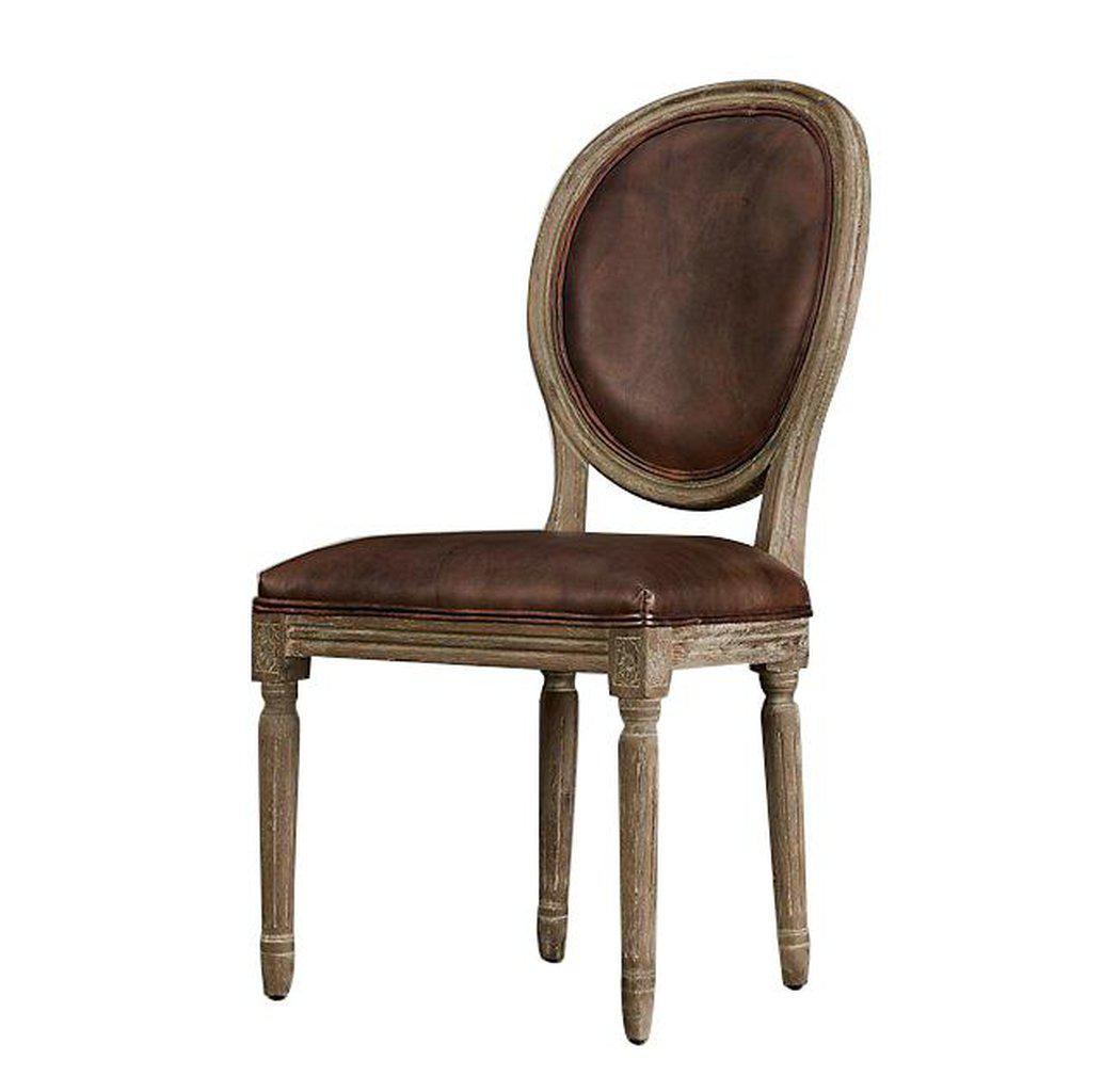 Picture of: Classic French Empire Style Leather Dining Chair French Country Pa