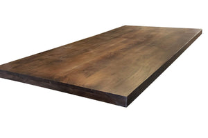 "Solid Acacia Wood Dining or Desk Top 80x40 2.25"" Java Stain Dining Table Rustic Deco"