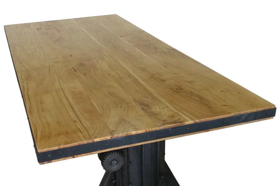 "Solid Acacia Wood Dining or Desk Top 80x40 2.25"" Natural Stain-Rustic Deco Incorporated"