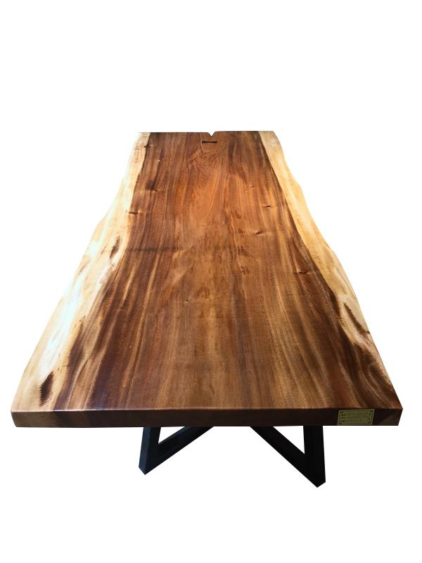 "Solid Walnut Live Edge Hardwood Table Slab - 79"" x 35"" - Bow Tie - Rustic Deco Incorporated"